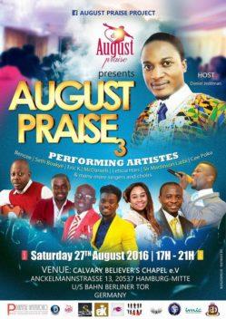 August Praise 2016